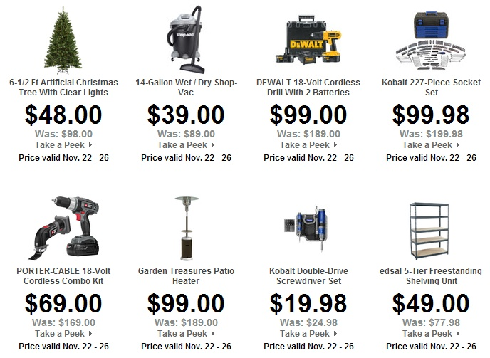 8 best thanksgiving day shopping deals ads images on pinterest lowes home improvement black friday 2012 sneak peek fandeluxe Choice Image