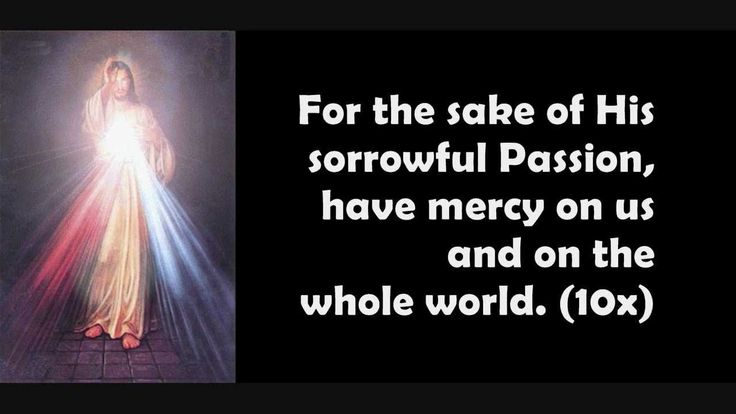 THE CHAPLET OF DIVINE MERCY IN SONG... I pray this for all natural, organic farmers and for our food supply... For the sake of His sorrowful Passion have mercy on us and on the whole world.
