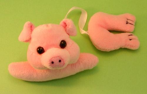 Stuffed Piggy Bookmark