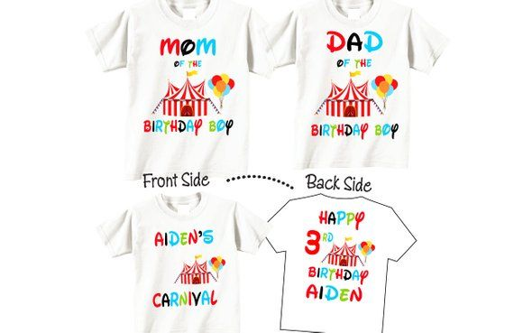 Family Birthday Shirts Boy Shirt Set For Mom Dad And Child Wi