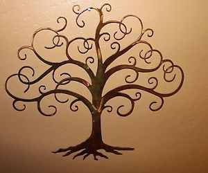 Swirled Tree of Life  Metal Wall Art Decor, great for Thankful Tree
