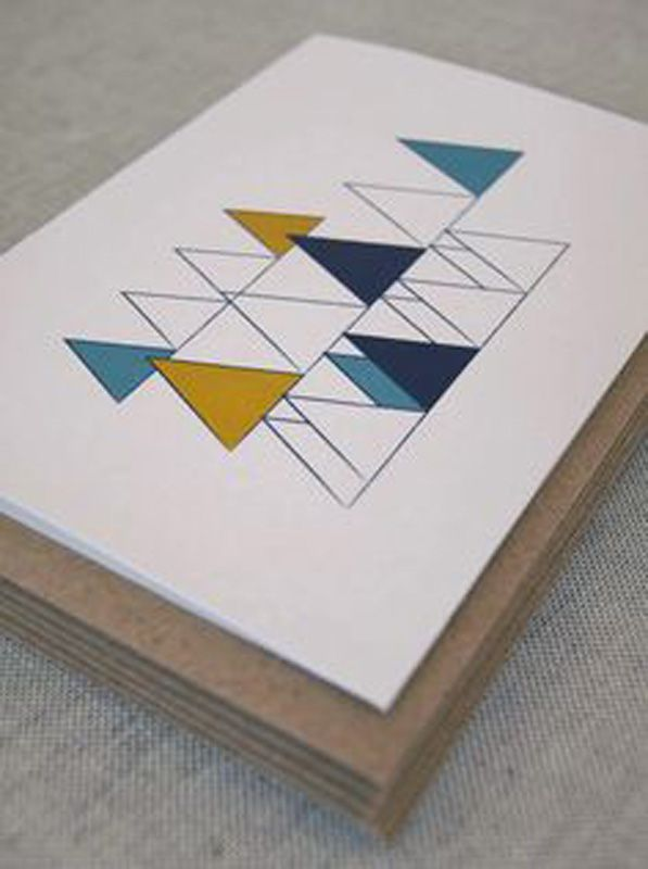 Modern abstract Christmas card inspiration