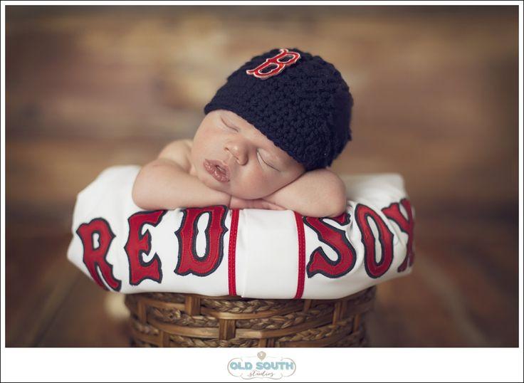 Charlotte+Newborn+PhotographerBaby+Brant, newborn Red Sox, newborn baseball