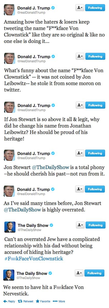 Jon Stewart, Donald Duck Trump