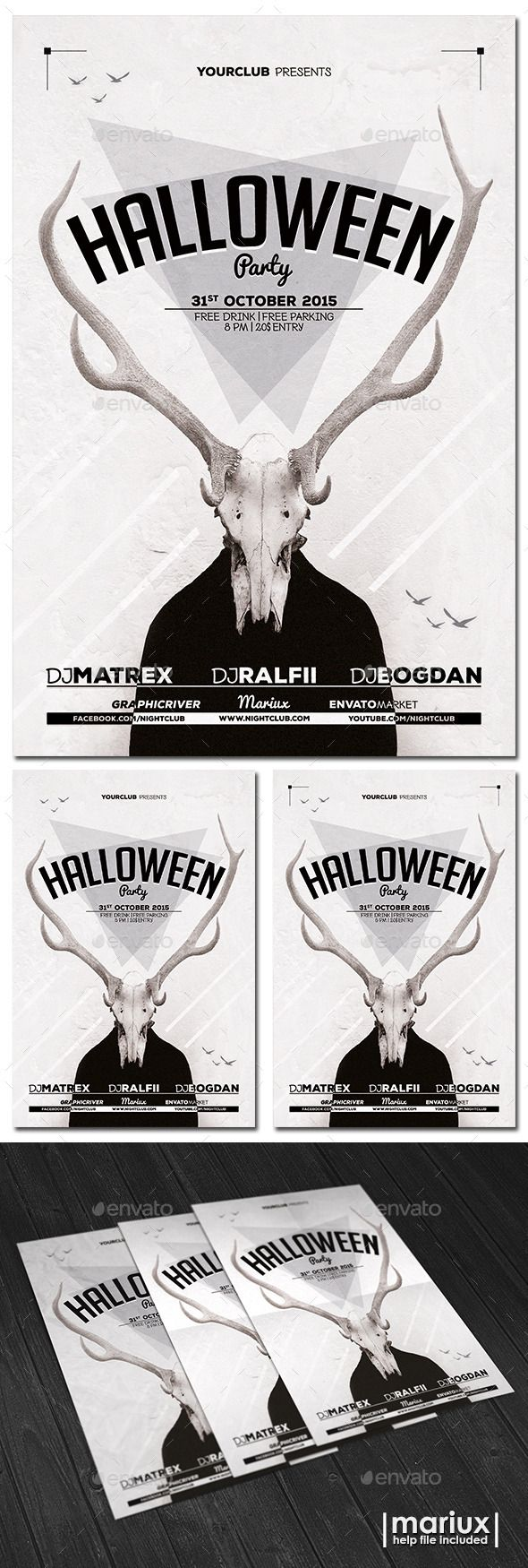 Die besten 25+ Halloween Party Flyer Ideen auf Pinterest ...