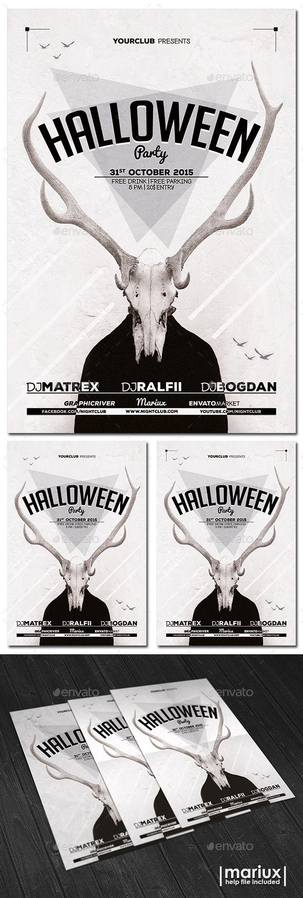 Halloween Party Flyer Template #design Download: http://graphicriver.net/item/halloween-party-flyer/12683819?ref=ksioks