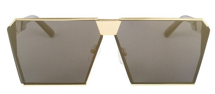 Peekaboo Fashion luxury square sunglasses women brand designer celebrity metal UNISEX mens oversized sunglasses mirror lens Cool