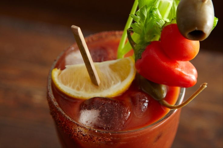 Mary's Bloody Mary: 2 cups Bloody Mary mix 1½ cups Clamato juice 2 ...