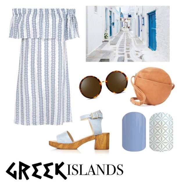 """""""Untitled #39"""" by staceywilson-2 on Polyvore featuring BAGGU, Sea, New York, Linda Farrow, Topshop, Packandgo and greekislands"""