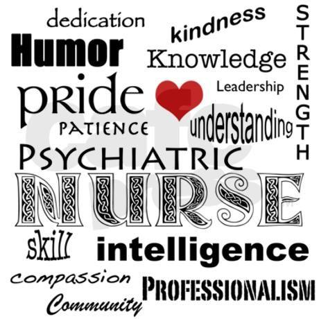 Psychiatric Nurse Pride/Attributes+Red Heart Perfo on CafePress.com