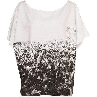 Topshop festival sweat t-shirt
