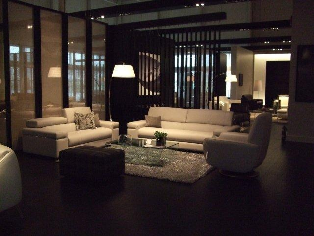 The avana sofa and loveseat with the genny chair canada 39 s first natuzzi italia store at sandy - Natuzzi vancouver ...