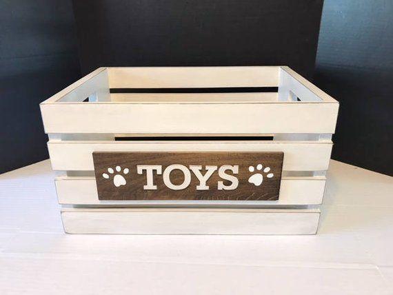 Diy Dog Toy Box Dog Toy Box Diy Dog Toys Diy Cat Toys