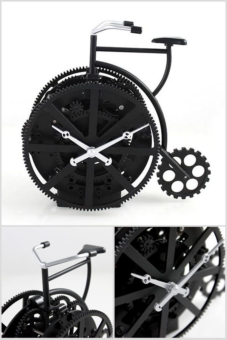 The table clock is in the form of retro bicycle. It is the original and stylish gift that will decorate the house of your friends. Price $62.00 #Retro #Design