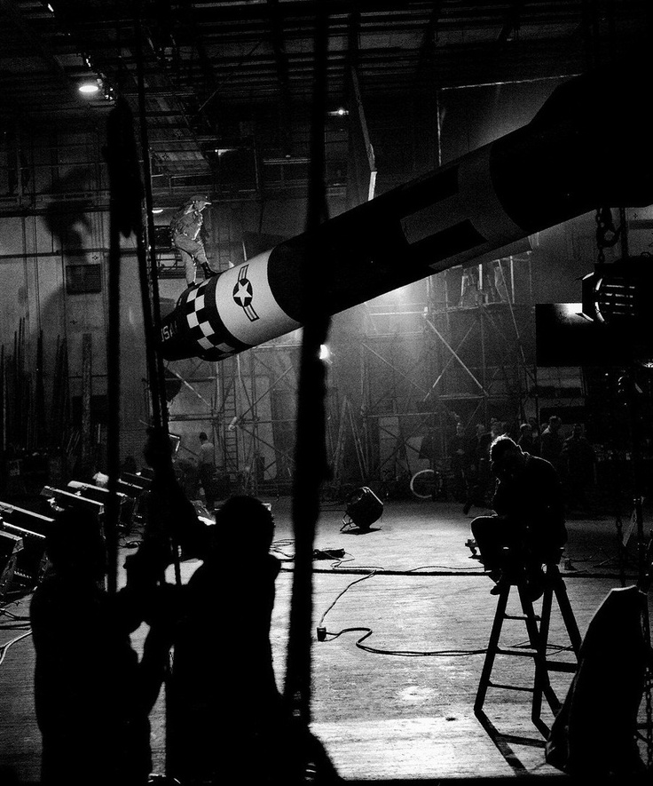 "Slim Pickens Filming The Famous ""nuke Scene"" From Dr"