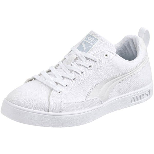 Match Lite Basic Sports Women's Sneakers ($65) ❤ liked on Polyvore featuring shoes, sneakers, white, white sneakers, puma sneakers, leather sneakers, lightweight tennis shoes and puma shoes