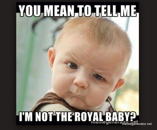 Royal baby meme challange