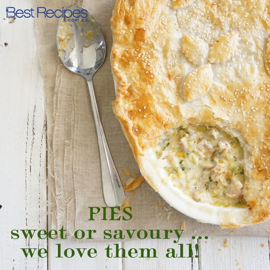 Sweet or savoury?  We have over 250+ pie recipes to suit everyone!  #pies #sweet savoury #dinner #onedish #recipe #baking