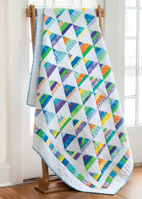 Strippy Pyramids quilt pattern by Tony Jacobson seen at Fons and Porter