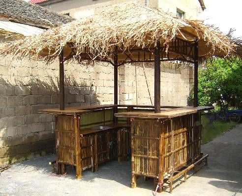 Tiki Bar Hut I Want To Use This Quot U Quot Shaped Concept When