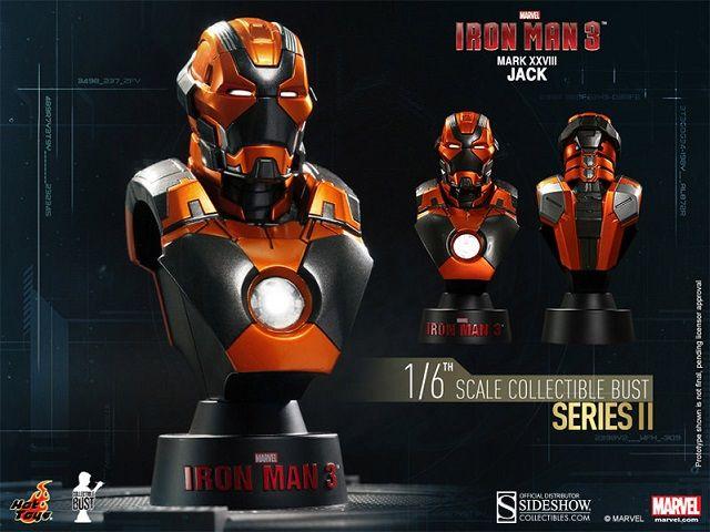 Pré-Encomenda:  Iron Man 3 Bust 1/6 Series 2 Iron Man Mark XXVIII Jack 11 cm  Para mais informações clica no seguinte link: http://buff.ly/1g5UMhj  #ToyArt #HotToys #Marvel #IronMan