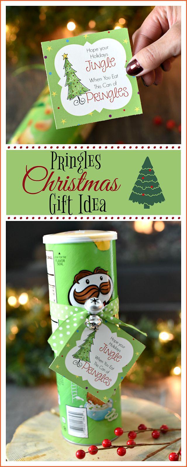 Lustige Weihnachtsgeschenkidee mit Pringles