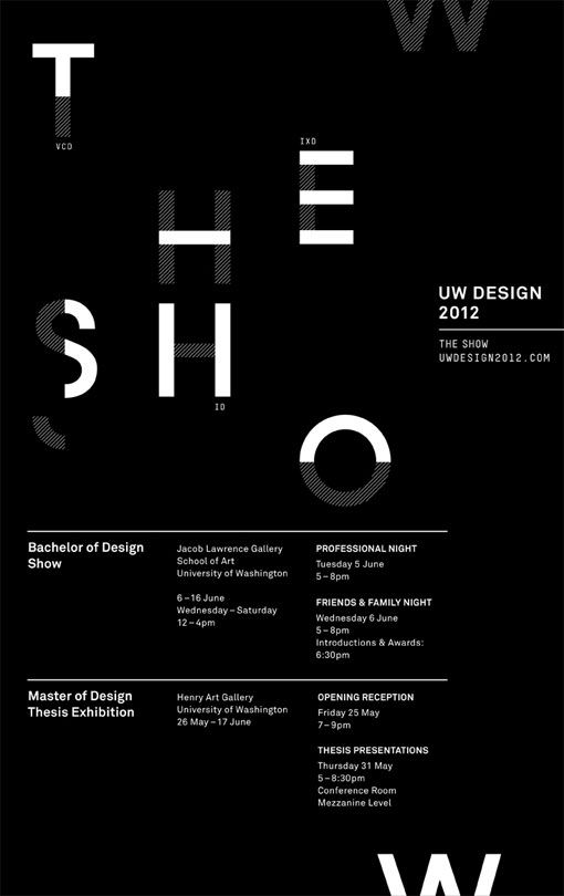 garadinervi: UW Design Show 2012, University of Washington / School of Art - Division of Design (via)