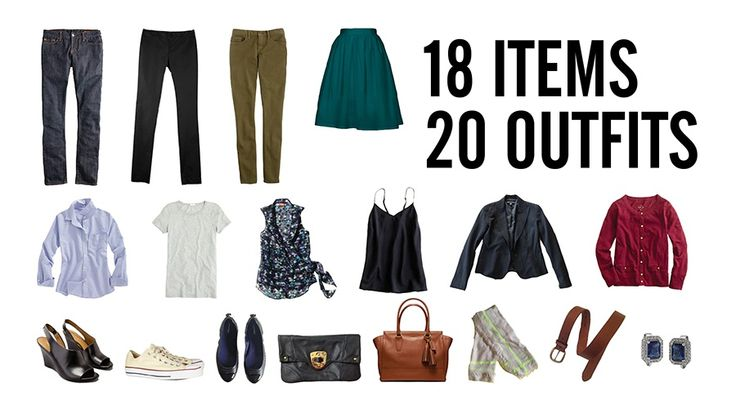 Stylebook: Packing Lists: 8 Tips to Pack 20 Outfits in One Carry-on