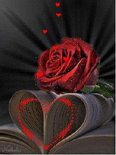 A RED HEART THAT SWIRLS SENDING UP LITTLE RED HEART OF LOVE