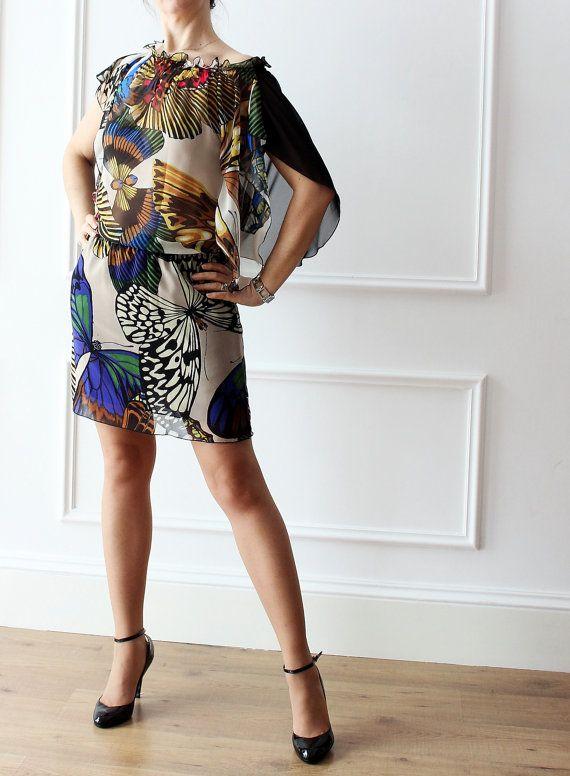 miniabito,abito a farfalla, abito fantasia, abito elegante, abito chic, by IrisAtelier #italiasmartteam #etsy