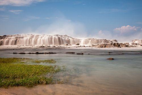 Big Rock meets Big Wave at Sawarna Beach, Indonesia.