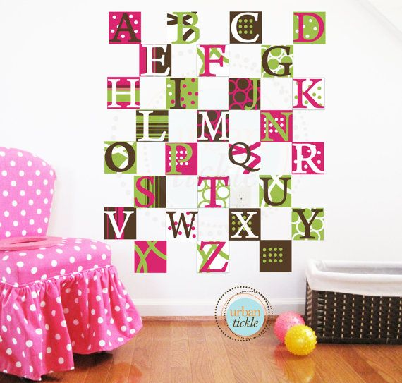 NEW SALE Alphabet Wall Decal for Kids Modern by UrbanTickle, $46.00