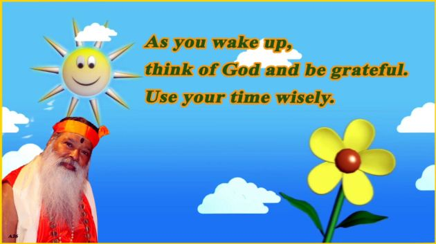 Think of God as you wake up