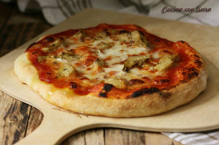 Pizza con carciofini - solo 1 grammo di lievito di birra!
