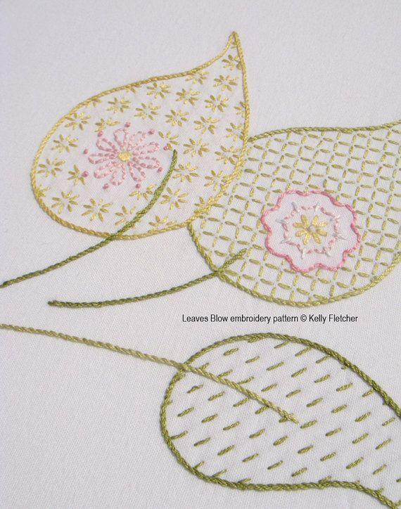 He encontrado este interesante anuncio de Etsy en https://www.etsy.com/es/listing/162459066/leaves-blow-hand-embroidery-pattern