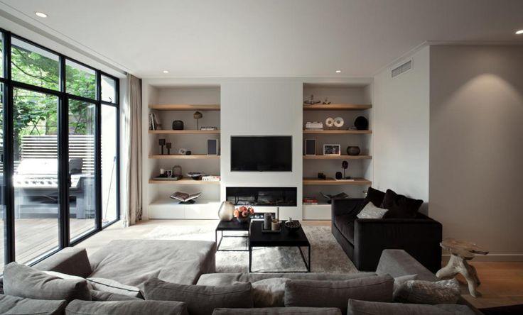 Clairz Interior Design | woonkamer inspiratie | haard met ombouw | zithoek