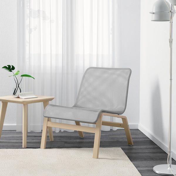 Nolmyra Chair Birch Veneer Gray Ikea In 2020 Easy Chair Scandinavian Furniture Design Furniture Design