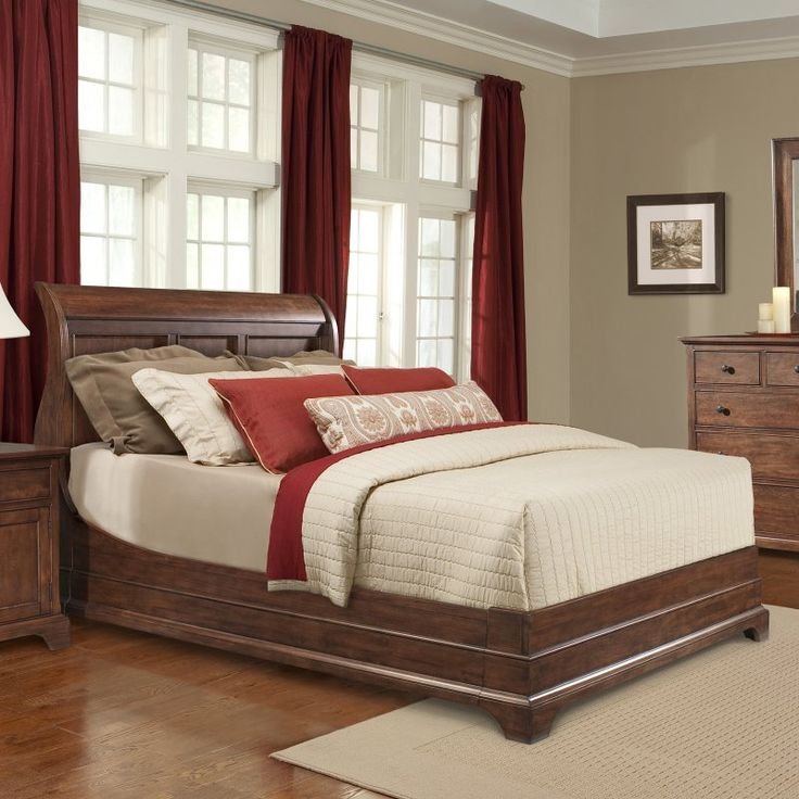 1000 Ideas About Cherry Sleigh Bed On Pinterest Brown Bedroom Furniture Cherry Wood Bedroom