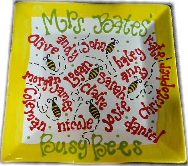 Busy Bee Teacher Gift by The Pottery Stop Gallery!, via Flickr