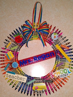 The Simple Things in Life: Gift for a Teacher: Crayon Wreath