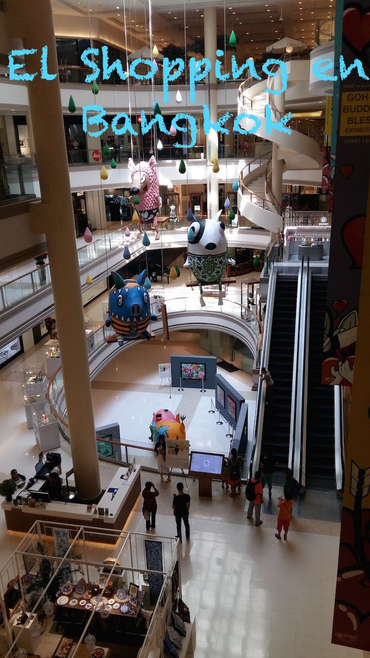 El Shopping en Bangkok. Los grandes centros comerciales y mercados.