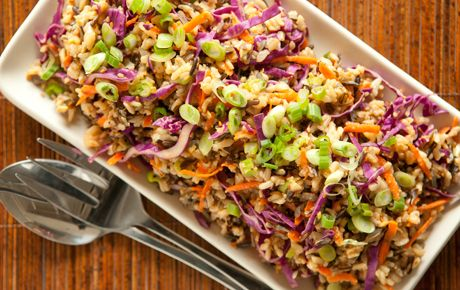 Miso-Ginger Wild Rice with Carrots and Cabbage: Whole Foods Market, Barley Miso, Cabbages, Wild Rice, Cabbage Recipe, Carrots, Rice Salad, Miso Ginger Wild, Healthy Recipes