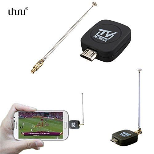 Uhuru Mini USB DVB-T DVB-T2 Digital Mobile TV Tuner Receiver for Android Phone Tablet PC to Watch Free TV in Russia Europe Ghana
