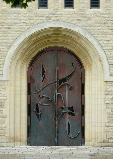 Portsmouth, England Portsmouth Cathedral west doors by army.arch, via Flickr