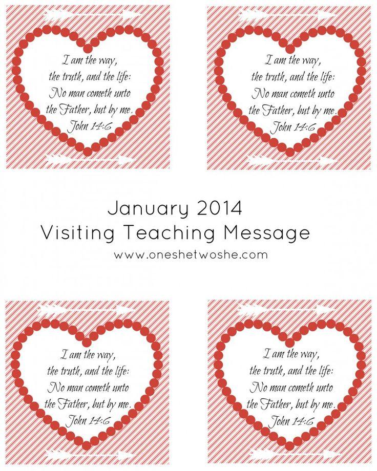 January 2014 Visiting Teaching Message Printable