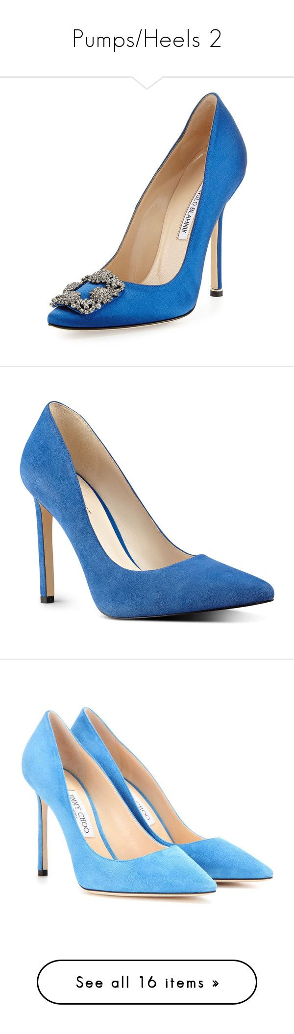 """""""Pumps/Heels 2"""" by spectre11 ❤ liked on Polyvore featuring shoes, pumps, cobalt, pointy toe pumps, satin shoes, pointed toe pumps, satin pumps, manolo blahnik shoes, electric blue suede and royal blue shoes"""