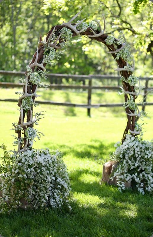 280 best ceremony flowers images on pinterest decor wedding deer antler arches for wedding junglespirit Image collections