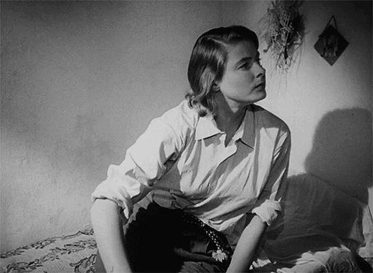 Ingrid Bergman Stromboli (1950), dir. Roberto Rossellini