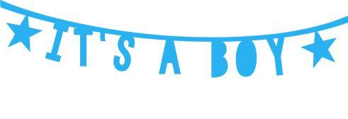 Geboortesticker jongen | Geboortesticker Company