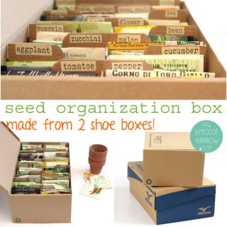 Make A Seed Box for organized storage | A Piece of Rainbow